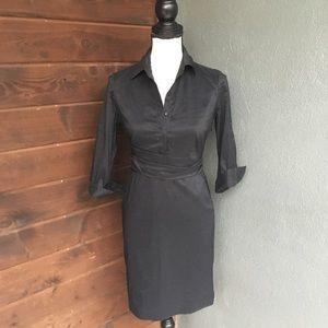 Ann Taylor sash camp sleeve shirt dress